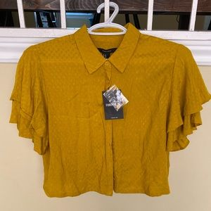 💎2 for $15 💎 FOREVER 21 Mustard Cropped Blouse